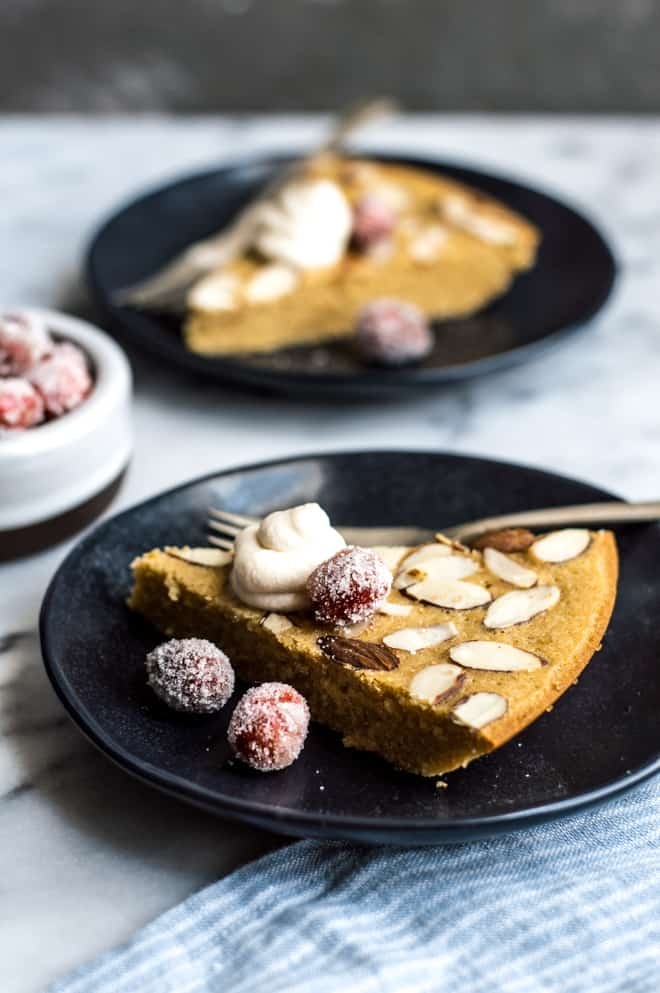 Swedish Visiting Cake with Kahlua Whipped Cream - this gluten-free cake comes together in one bowl and uses less than 10 ingredients! By Lisa Lin, Healthy Nibbles & Bits