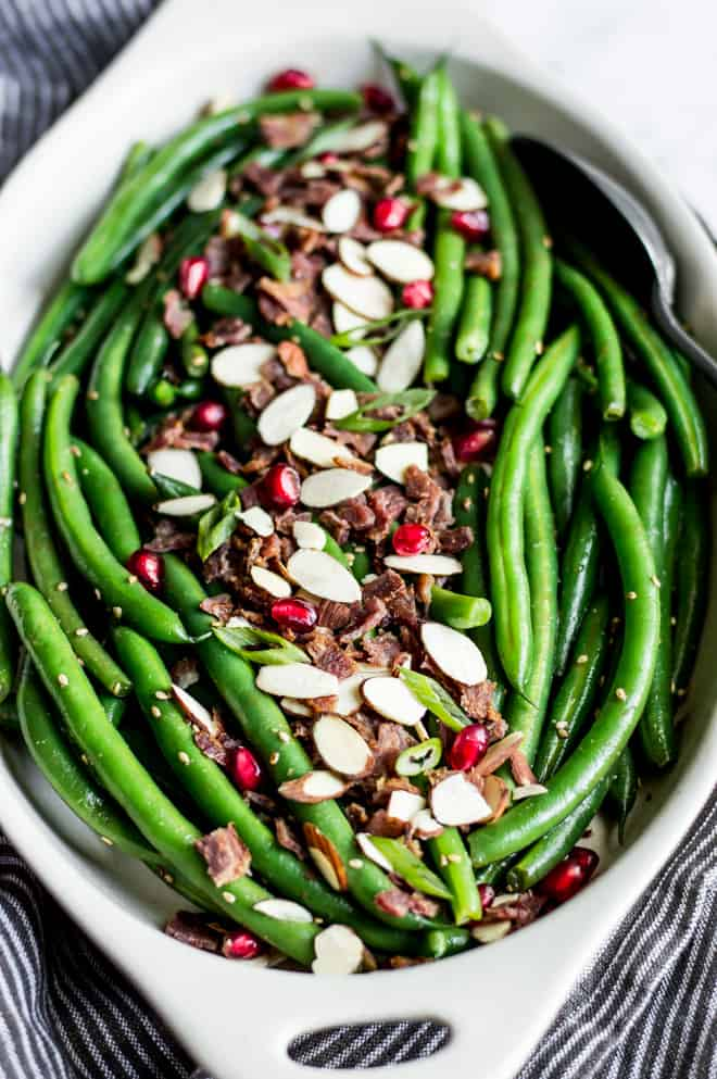 Miso Maple Green Bean Salad with Bacon | Healthy Nibbles ...