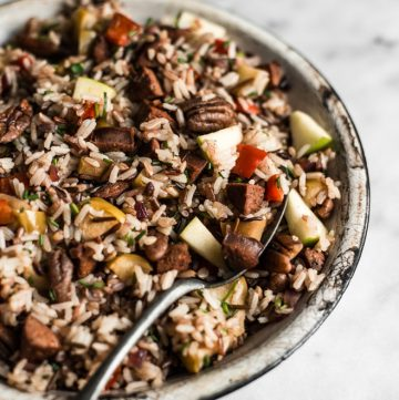 Chorizo and Apple Rice Salad