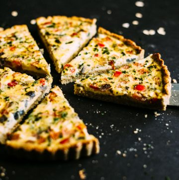 Mexican Quiche with Oat and Almond Crust