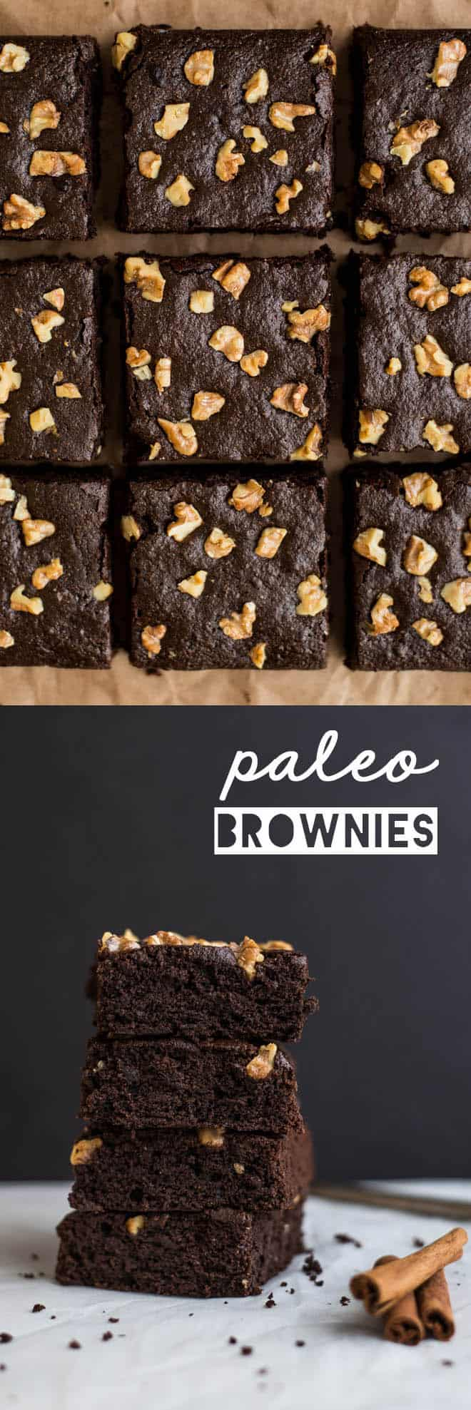 Spiced Paleo Brownies - super easy dessert that's naturally sweetened and gluten free! by Lisa Lin of healthynibblesandbits.com