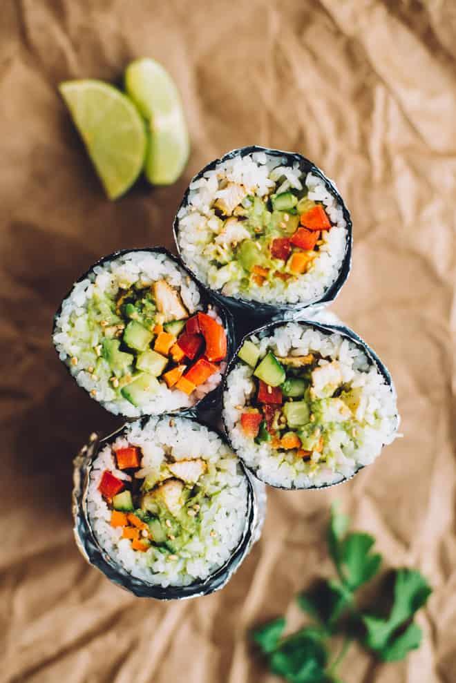 Easy Chicken Sushi Burrito Recipe