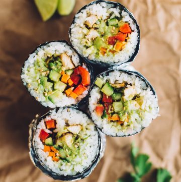 How to Make a Sushi Burrito | by Lisa Lin of healthynibblesandbits.com