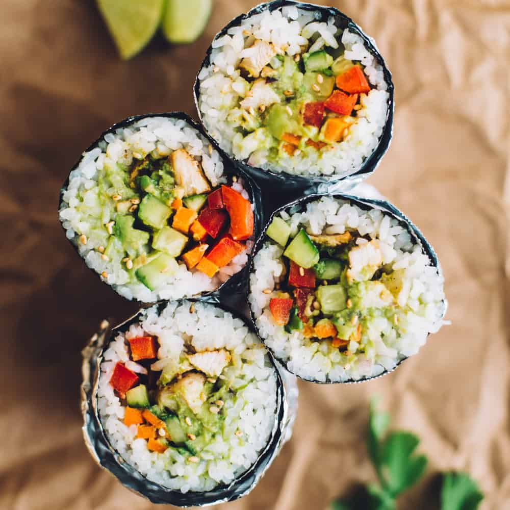 How To Make A Sushi Burrito Healthy Nibbles Amp Bits
