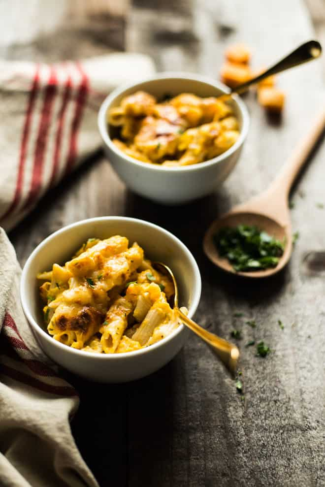 Baked Mac and Cheese - gluten free and healthier version!