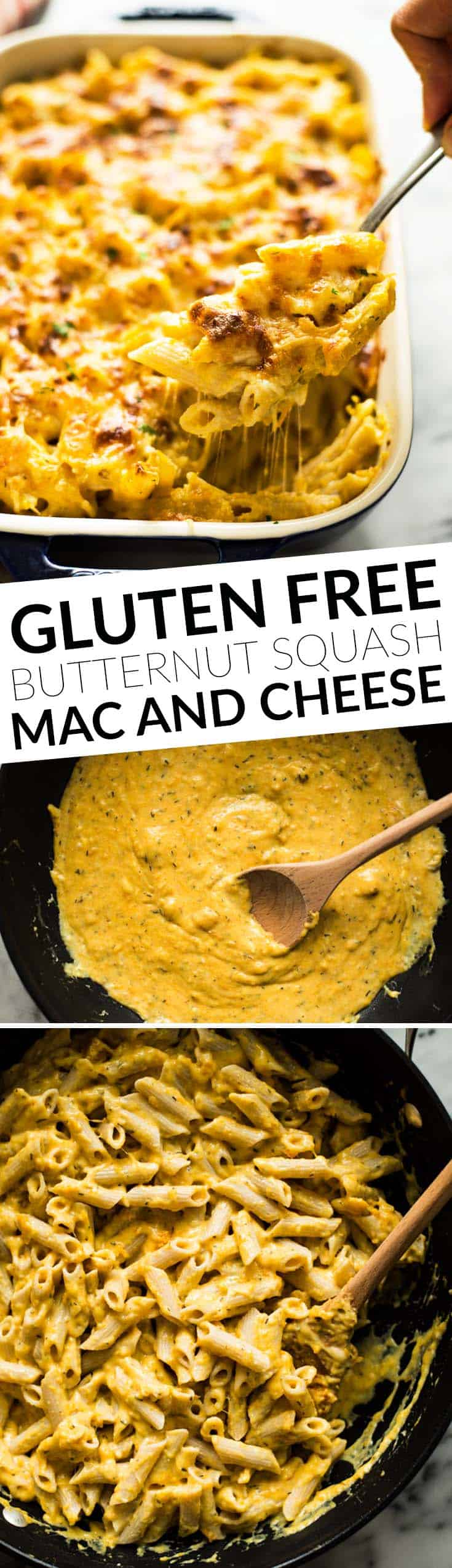 Butternut Squash Baked Mac and Cheese - gluten free and healthier version!