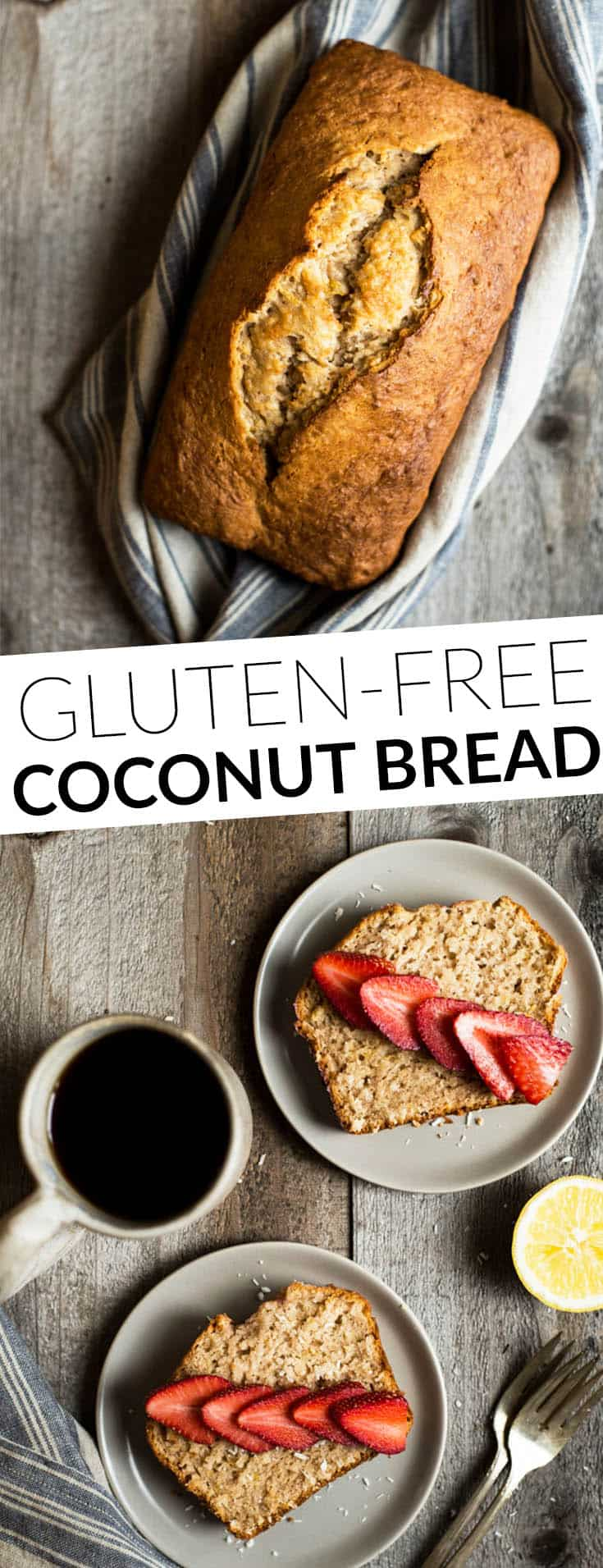 Easy Gluten-Free Coconut Bread with Lemon - perfect for breakfast or dessert! by @healthynibs
