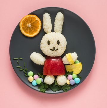 Easter Bunny Food Art