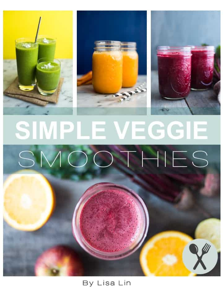 Simple Veggie Smoothies - a FREE E-cookbook with tasty, healthy vegetable smoothies! by Lisa Lin @healthynibs