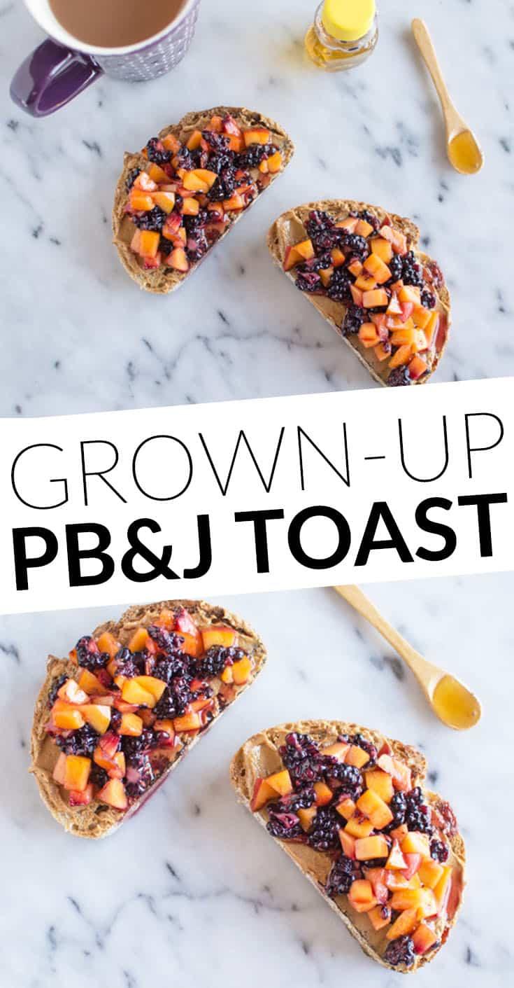 Grown-Up PB&J Toast - easy breakfast by @heatlhynibs