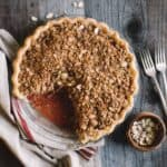 Strawberry Rhubarb Pie via @healthynibs