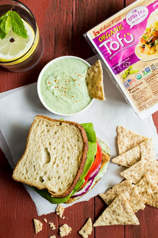 Gluten-Free Teriyaki Tofu Sandwich with Herbed Tofu Dip - ready in less than 30 minutes! Perfect healthy lunch! by @healthynibs