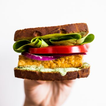 Teriyaki Tofu Sandwich with Herbed Tofu Dip