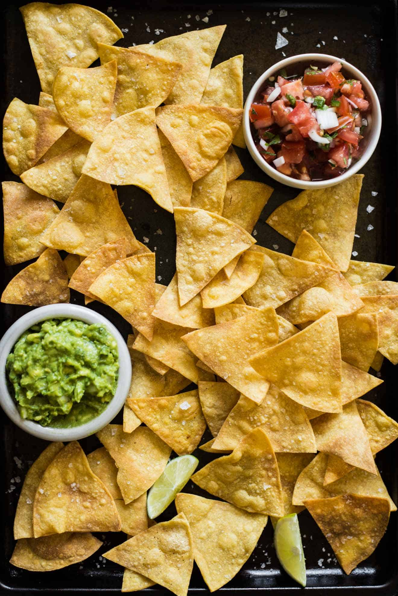 Easy, healthy baked tortilla chips made with 4 ingredients only ...