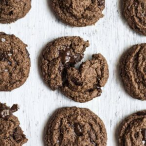The Ultimate Double Chocolate Chip Cookie - this is the best tasting gluten-free chocolate chip cookie! #glutenfree
