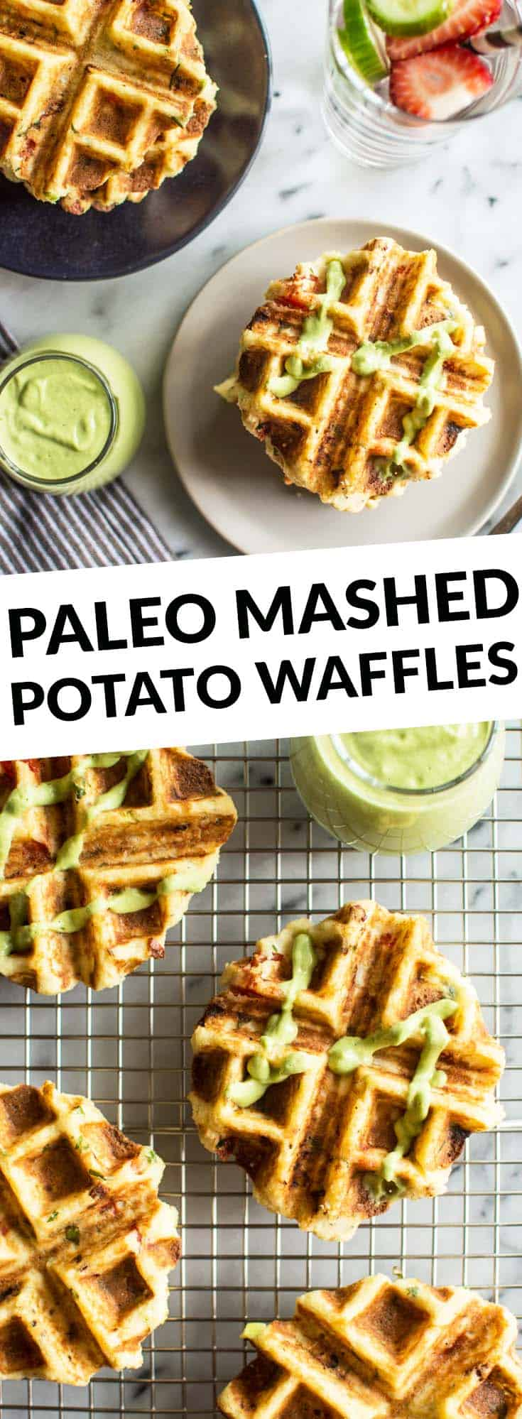 Mashed Potato Waffles - they're packed with flavor and paleo friendly! Perfect for breakfast! by @healthynibs