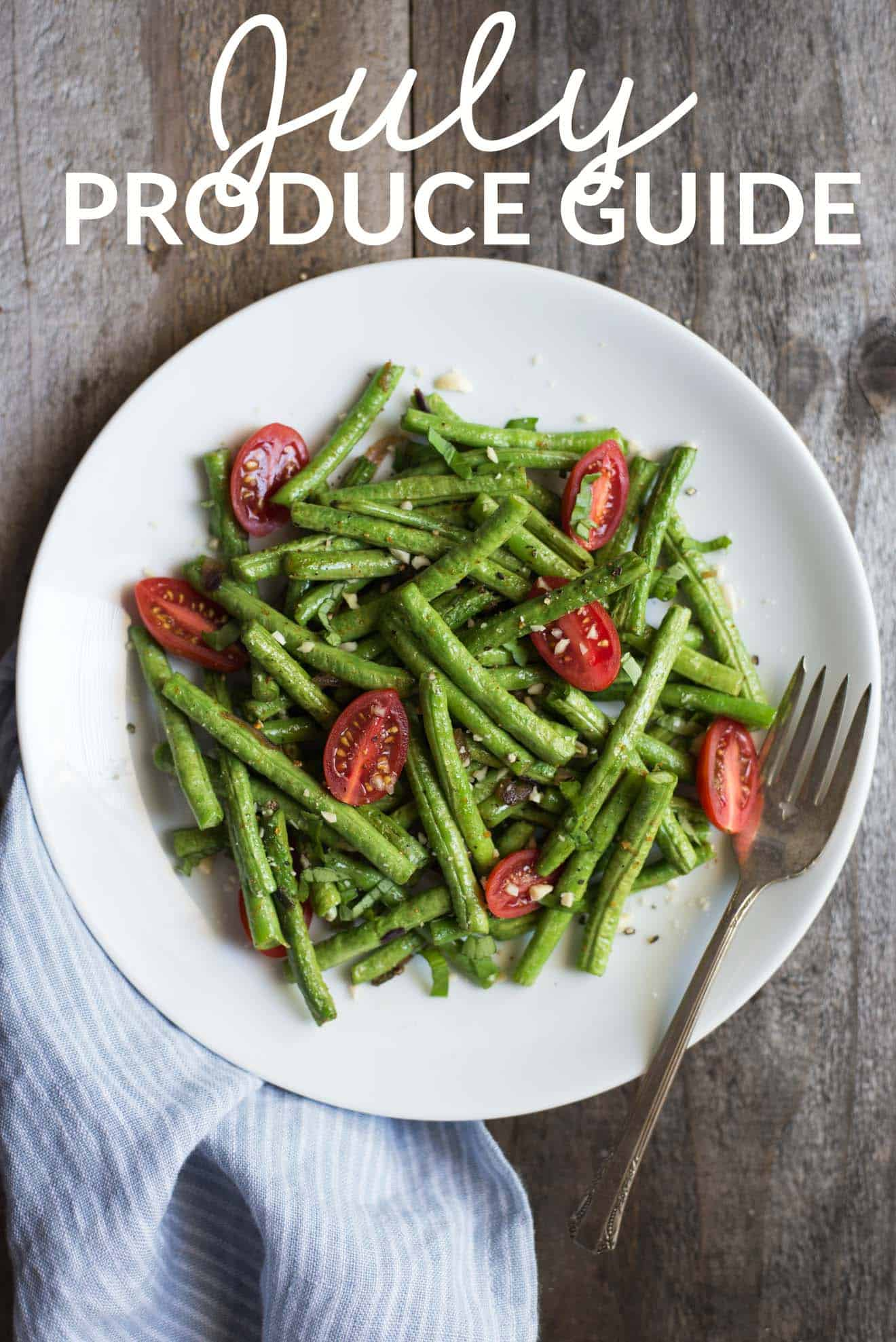 July Produce Guide - this guide features fruits and vegetables you should cook in July + recipe ideas! by @healthynibs