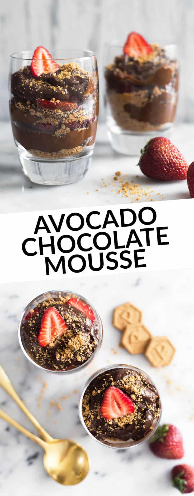 Avocado Chocolate Mousse Parfaits with Graham Cracker Crust