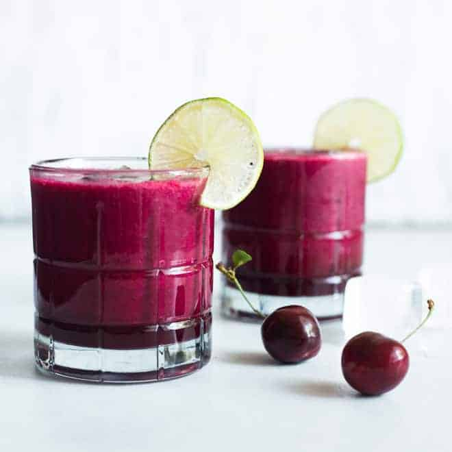 Cherry Lime Red Beet Smoothie - a simple, refreshing smoothie made with just 4 ingredients!