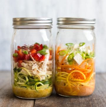 Curried Cup O' Zoodles: Two Ways