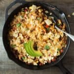 Chicken Chili Casserole - a hearty, budget-friendly dinner that is simple to make! @healthynibs