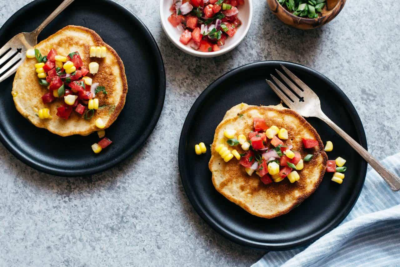 Corn-Scallion Pancakes Recipe — Dishmaps
