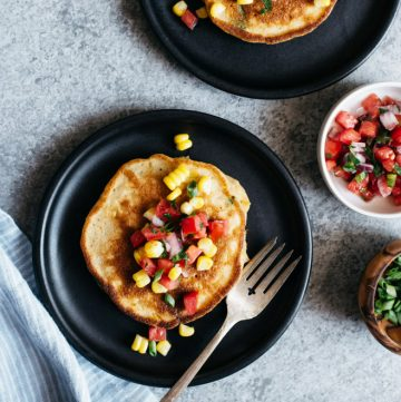 Savory Pancakes with Corn and Scallions (Dairy Free)