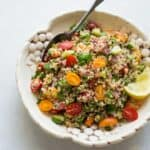 Quinoa Tabbouleh - a simple, Mediterranean-inspired salad that's made with just 7 ingredients! by @healthynibs