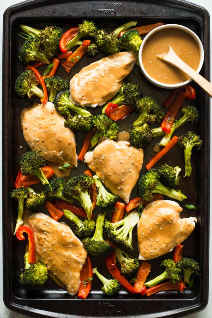 Roasted Chicken Sheet Pan Dinner with Roasted Vegetables