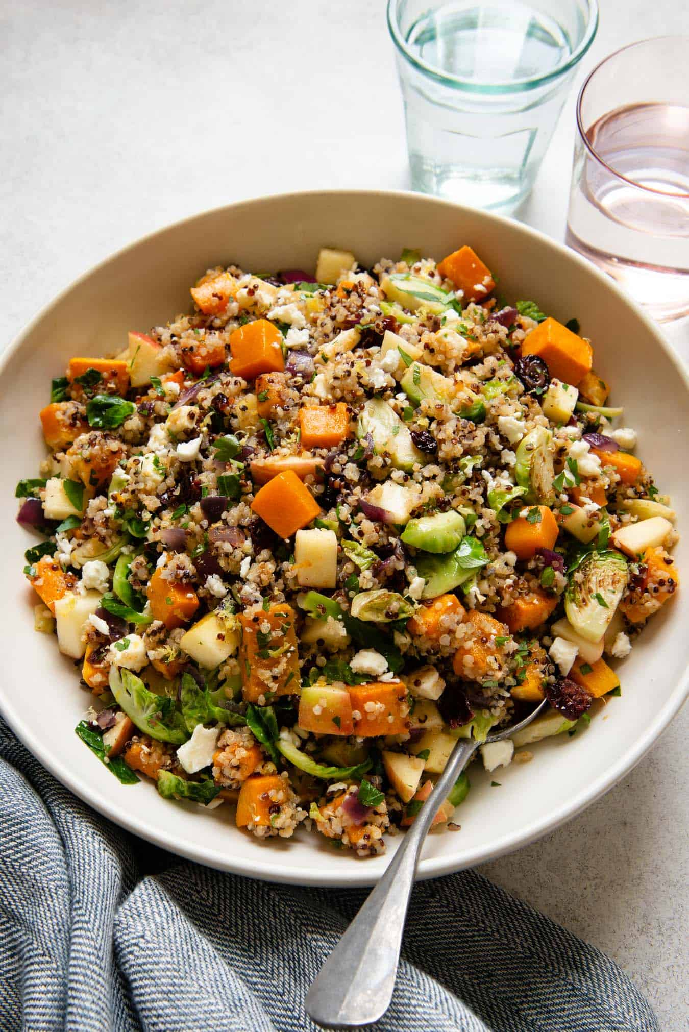 Fall Harvest Quinoa Salad - a gluten-free salad that is great for parties!