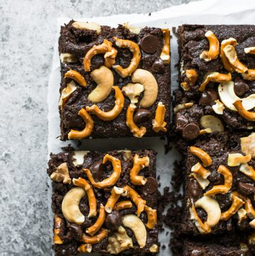 Gluten-Free Brownies with Pretzels & Nuts