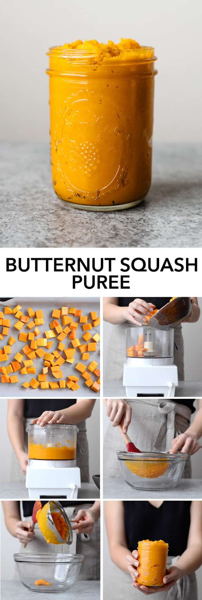 How to Make Butternut Squash Puree - here is a simple way to make butternut squash puree at home! by @healthynibs