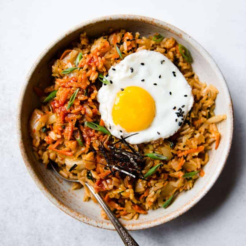 Vegetarian Kimchi Fried Rice 20 Minutes Healthy Nibbles