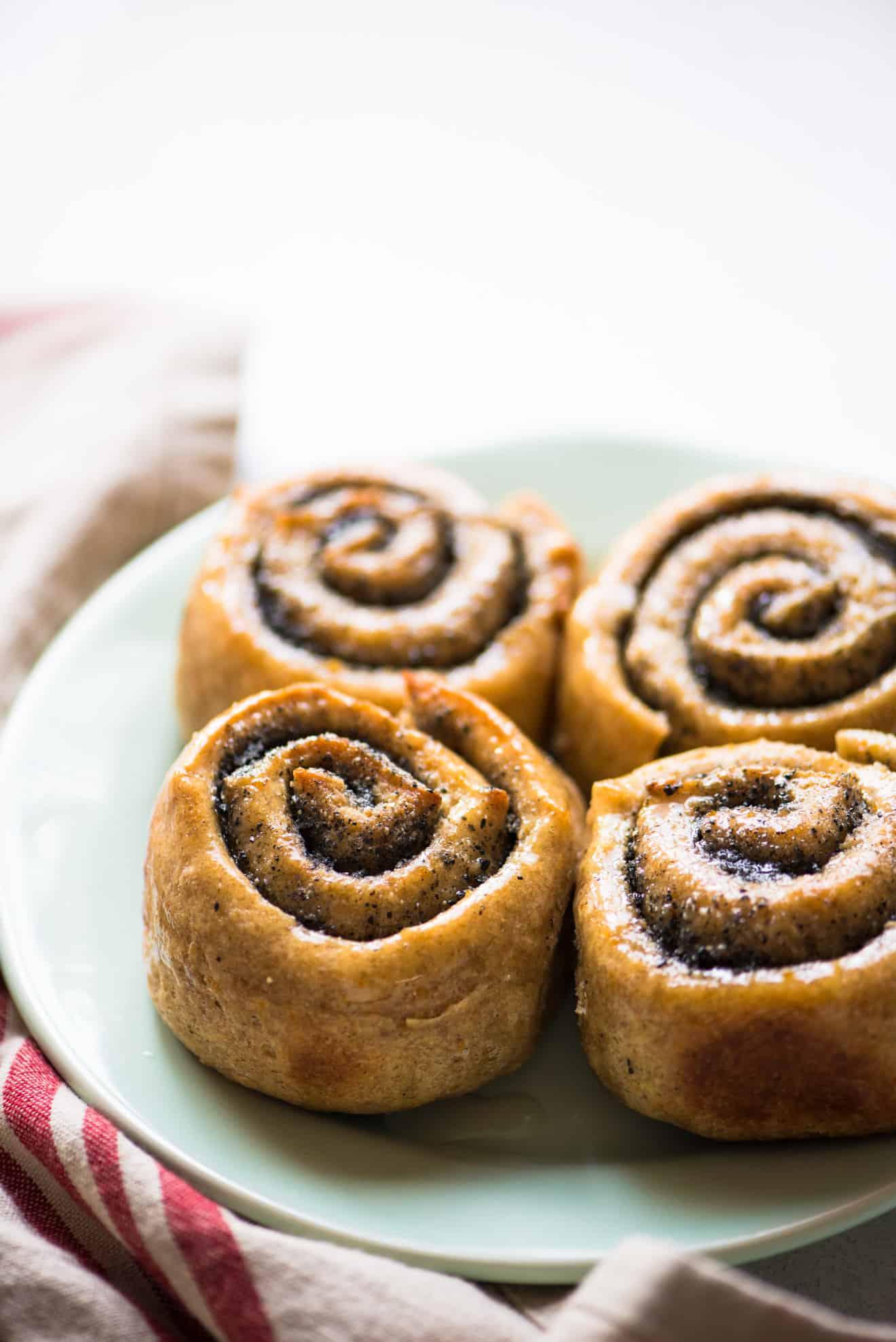 vegan black sesame rye rolls with orange  healthy nibbles
