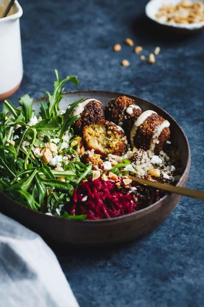 Butternut Squash Falafel Bowls (from Snixy Kitchen)