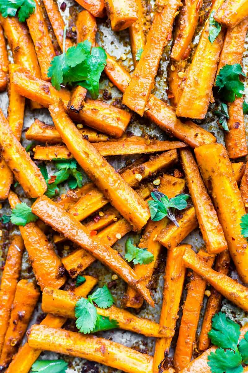 Easy Peri Peri Oven Baked Carrot Fries by Cotter Crunch