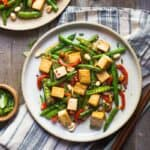 Kung Pao Tofu Stir Fry - easy and healthy stir fry that takes only 30 minutes to make!
