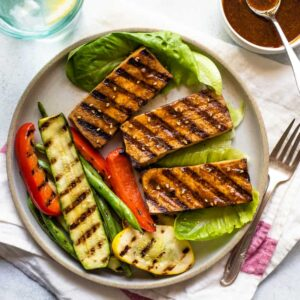 EASY & HEALTHY grilled tofu seasoned with a cajun-spiced marinade! Perfect for weeknight meals or BBQs!