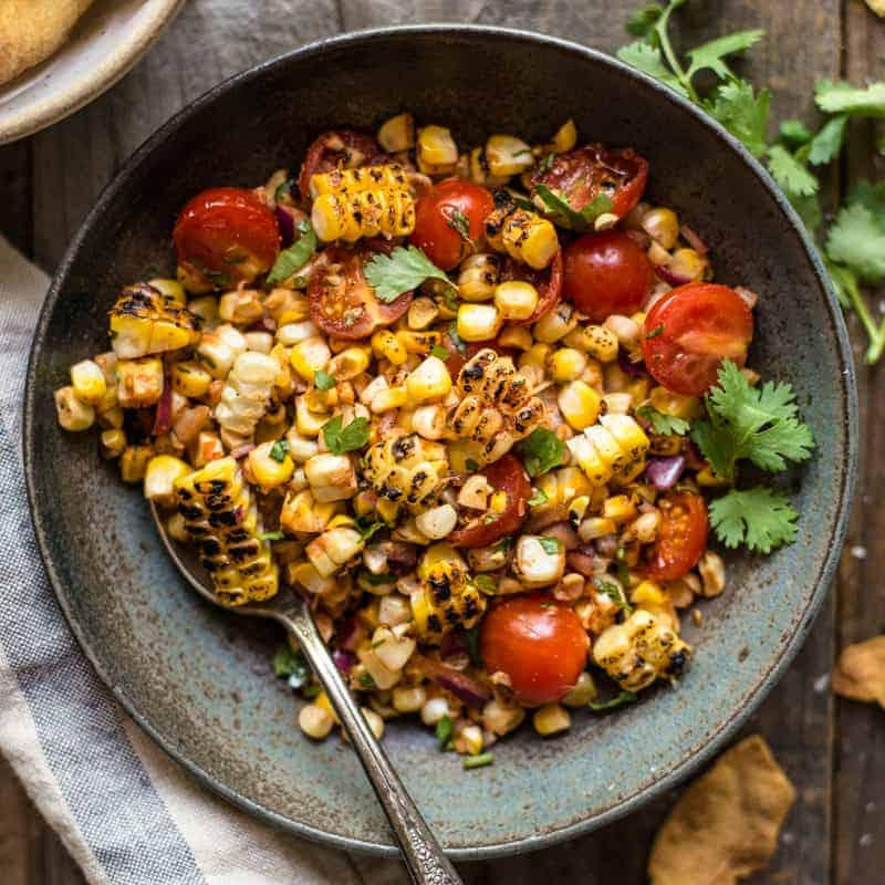 Grilled Corn Salsa | Healthy Nibbles