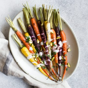Za'atar Roasted Carrots with Sumac Yogurt Sauce