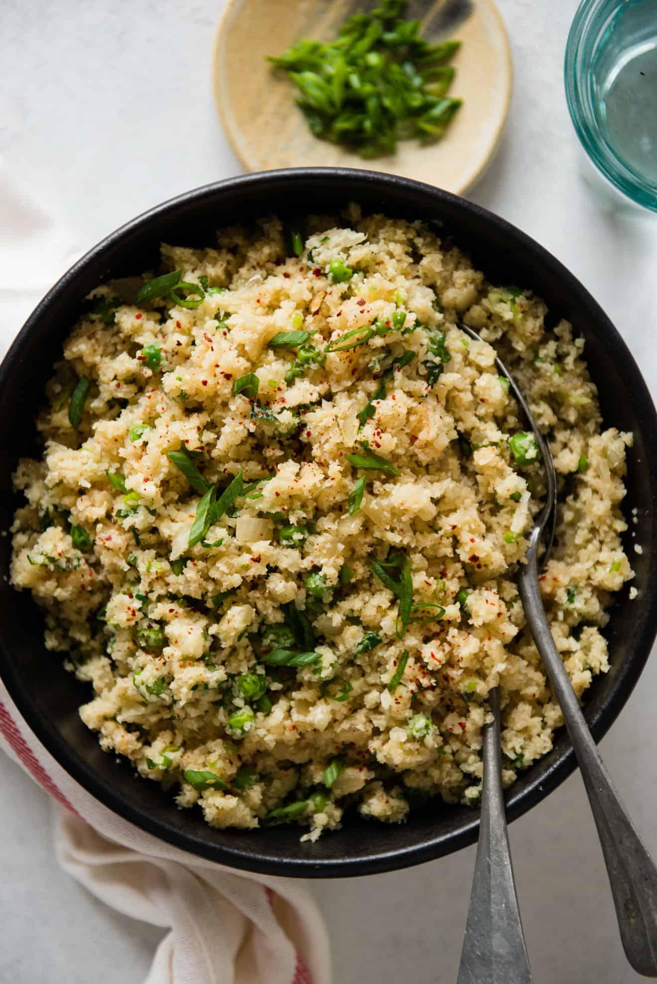 Ginger and Shallot Cauliflower Rice