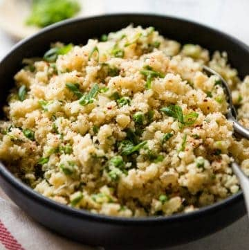 Ginger and Shallot Cauliflower Rice