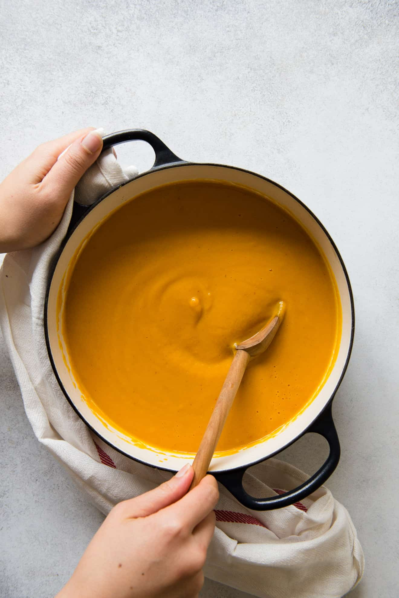 Creamy, Gingery Carrot & Sweet Potato Soup (vegan)