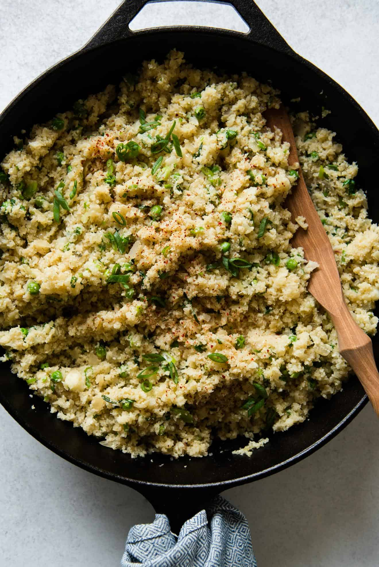 Ginger and Shallot Cauliflower Rice (vegan + paleo)