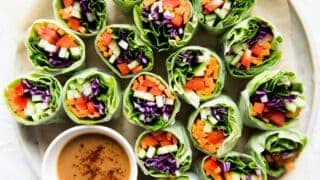 Rainbow Vegetable Spring Rolls Vegan Healthy Nibbles
