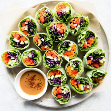 Fresh Vegan Vegetable Spring Rolls