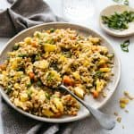 The Easiest Egg Fried Rice Recipe - a healthy, filling dinner ready in 15 minutes!