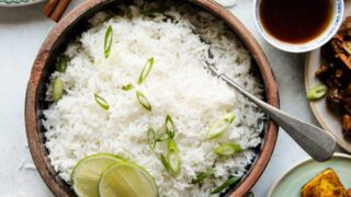 Simple Coconut Rice With Hint Of Lime Healthy Nibbles