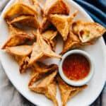 Curried Potato Fried Dumplings - includes step-by-step photos on how to fold dumplings