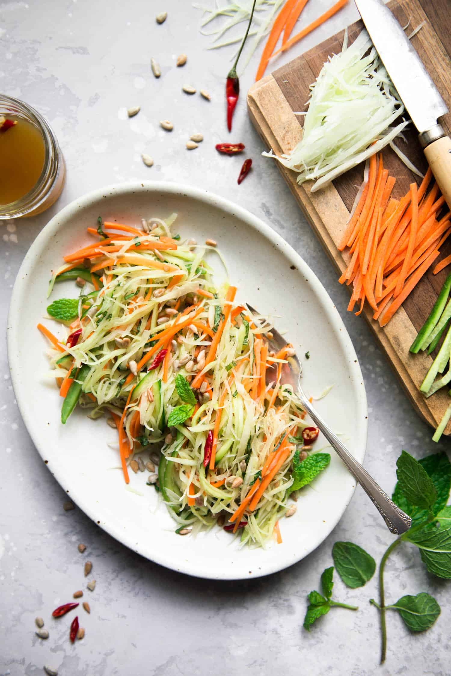 Green Papaya Salad - this healthy vegan salad is great for appetizers!